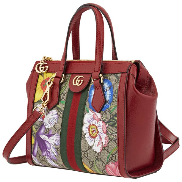 Gucci Ladies Small Ophidia GG Flora Tote Bag