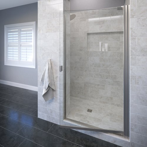 Basco Armon 25.13'' x 66'' Pivot Single Swing Shower Door