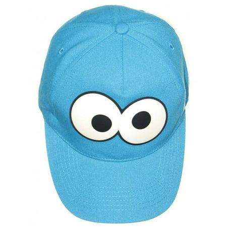 Cookie Monster Hat (Cookie Monster Big Eyes Sesame Street TV Boys Baseball Cap Coppertone UPF 50+ UV Protection Sun Hat Headwear)