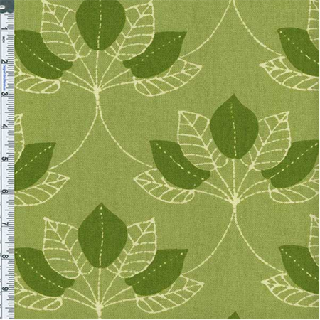 green mulberry leaf print home decor cotton fabric by the. Black Bedroom Furniture Sets. Home Design Ideas