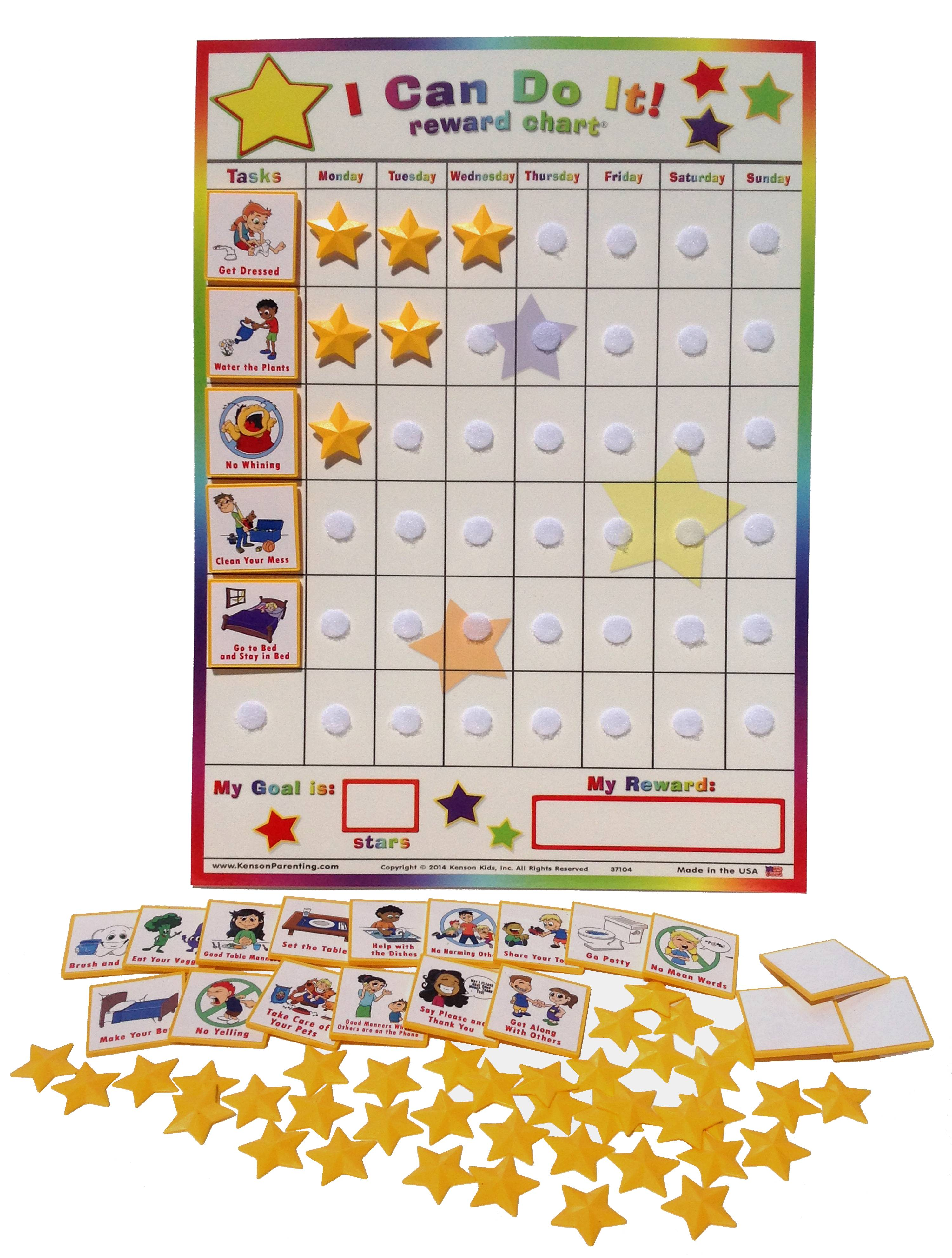 """Replacement Board and Stars for Kenson Kids /""""I Can Do It/"""" Reward Chart"""