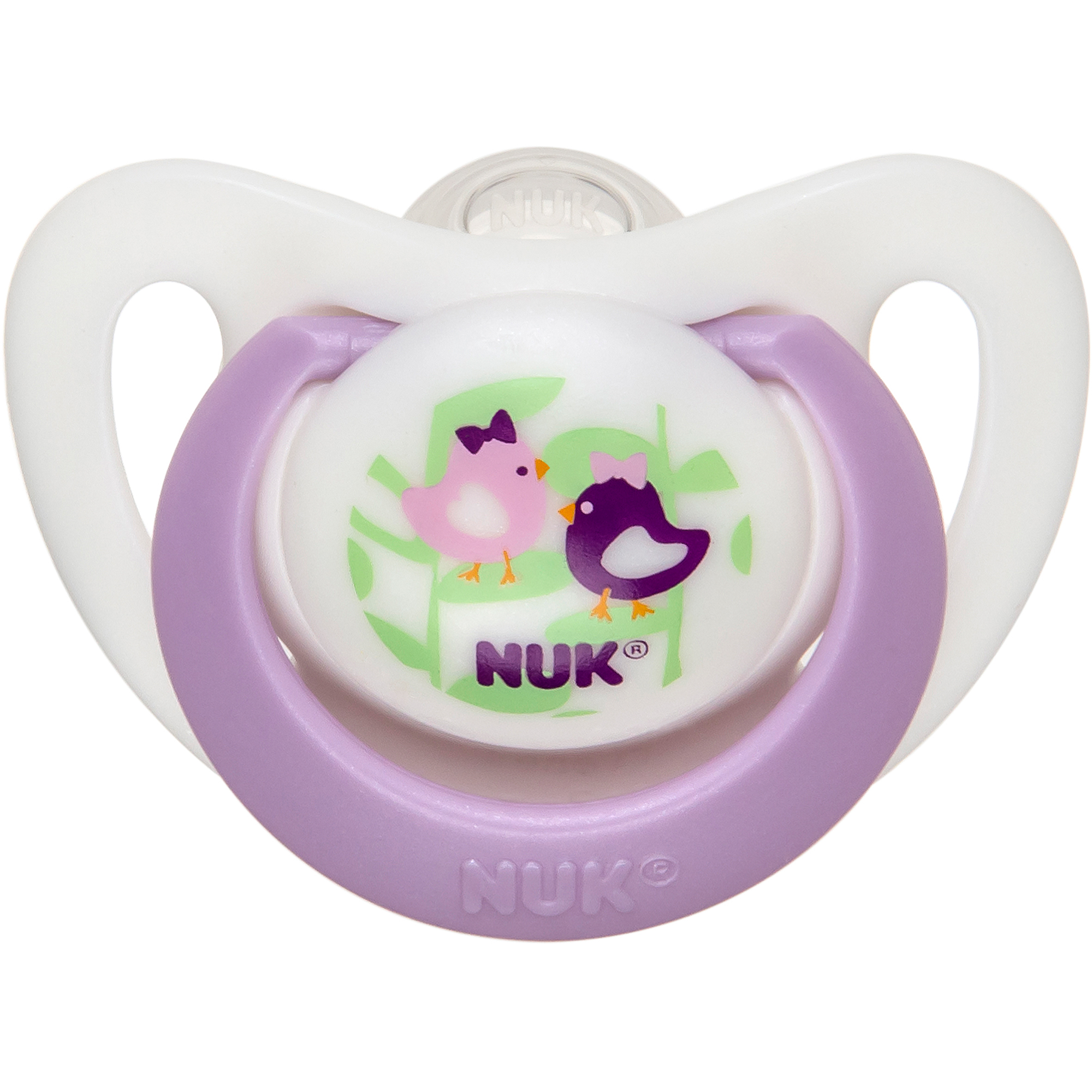 NUK Advanced Orthodontic Pacifiers, 0-2 Months, 2 count, BPA-Free (Colors May Vary)