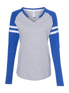 Women's Fine Jersey Mash Up Long Sleeve T-Shirt LAT