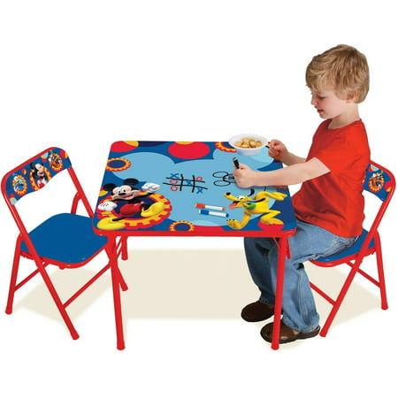 Disney Mickey Mouse Erasable Activity Table Set Walmart Com