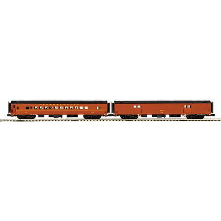 MTH O Scale Premier 70' Smoothside Baggage/Coach Set Pennsylvania Railroad/PRR -  MTH Electric Trains, 2069213