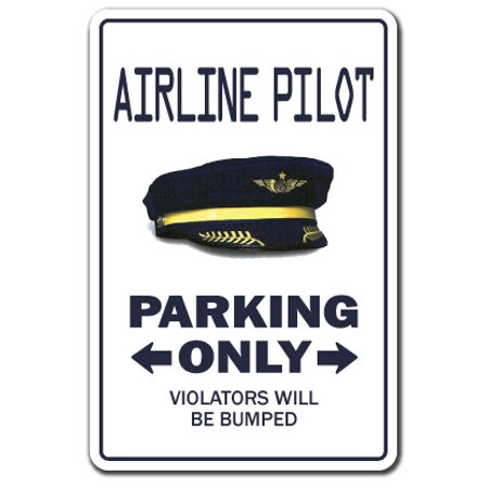 Flying Ace Pilot - AIRLINE PILOT Decal parking Decals plane airplane captain flying   Indoor/Outdoor   9