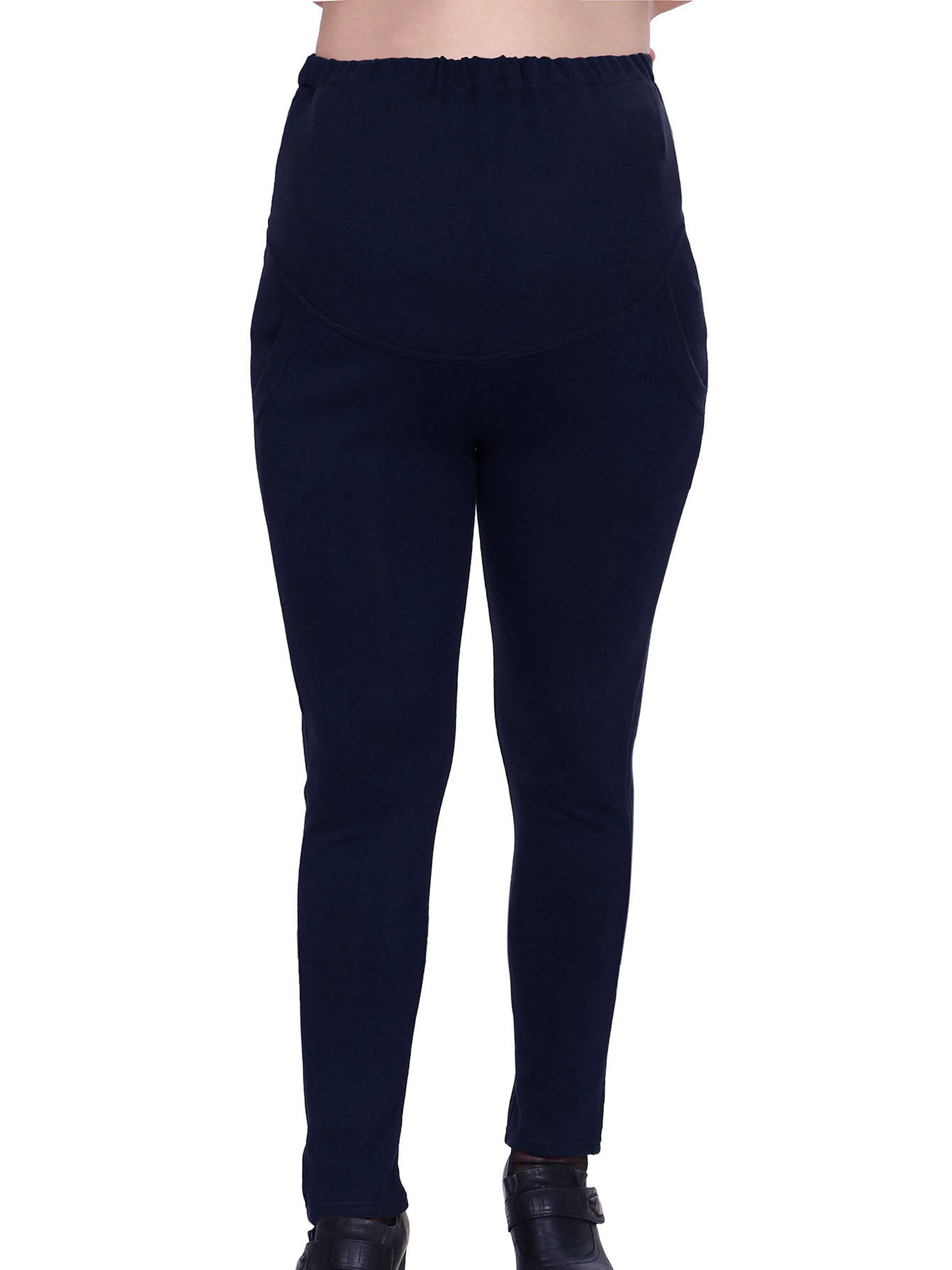 Harcadian High Waist Maternity Legging Pants For Expecting Moms,Navy Blue