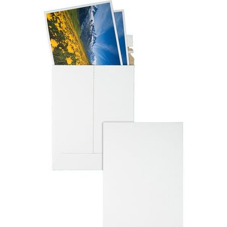 Quality Park, QUA64007, Sturdy Fiberboard Photo Mailers, 25 / Box, White