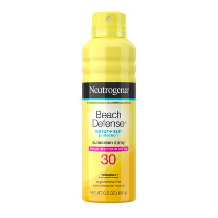 Neutrogena Beach Defense Oil-free Body Sunscreen Spray, SPF 30, 6.5