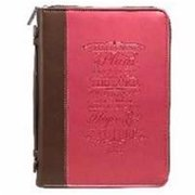 Christian Art Gifts 364141 Bible Cover-Fashion & I Know The Plans - Large - Pink