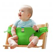 Jeobest Baby Seat Belt Strap - Baby Seat Support - Baby Seat Strap - Safe Seating Strap - Baby Seat Belt Strap Dining Chair Seat Belt Baby Travel Chair Booster Safety Seat Strap Belt (Green) MZ