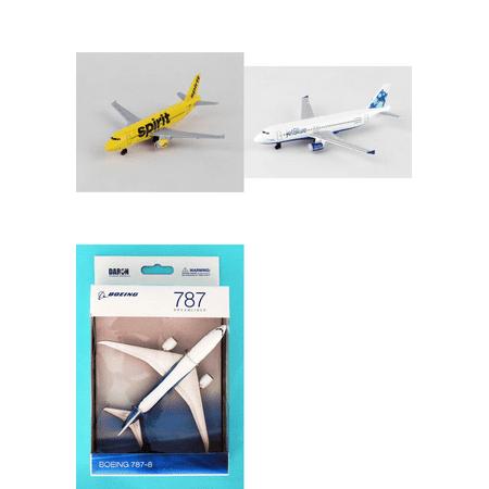 Spirit  Jetblue  Boeing Diecast Airplane Package   Three 5 5  Diecast Model Planes