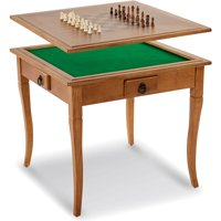 MD Sports Solid Wood Gaming Table with Table Top