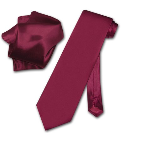 - Biagio 100% SILK Solid BURGUNDY Color NeckTie & Handkerchief Men's Neck Tie Set