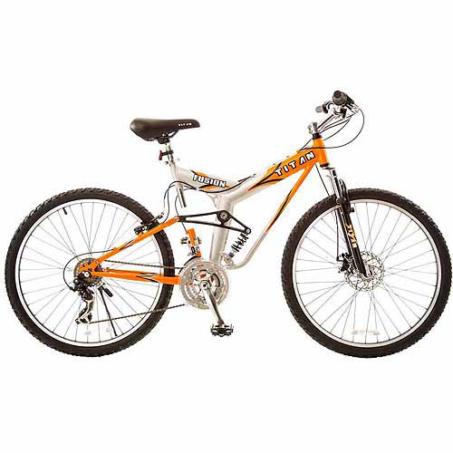 "19"" Titan Fusion-Pro Men's Mountain Bike, Orange/Silver"