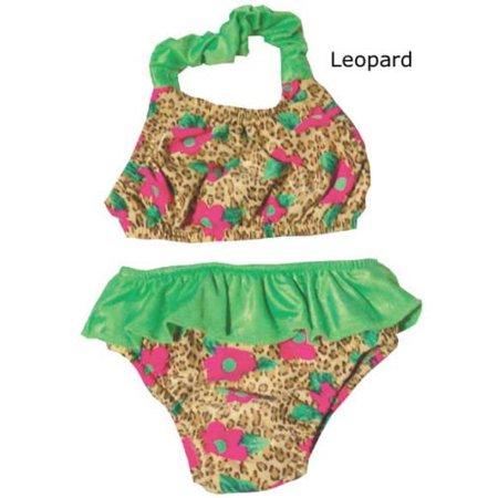 My Pool Pal 2 Piece Swimster Halter Swim Diaper Bathing Suit Leopard Print (Bathing Suit Swim Diaper)