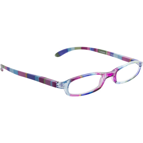 Wink by ICU 2.50 Fashion Reading Glasses, multi-color stripe slim