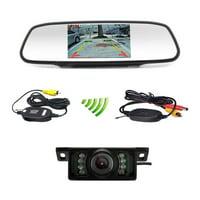"Podofo Car Backup Camera Wireless 5"" Car TFT LCD Mirror Rear View Monitor with IR Night Vision Waterproof Reverse Camera"