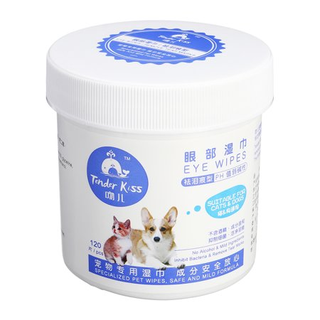 120 Pieces Pet Eye Wet Wipes Dog Cat Tear Stain Remover Pet Eye Grooming Wipes - image 1 of 10