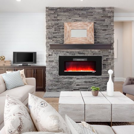 36 Recessed Electric Fireplace In Wall Wall Mounted Standing
