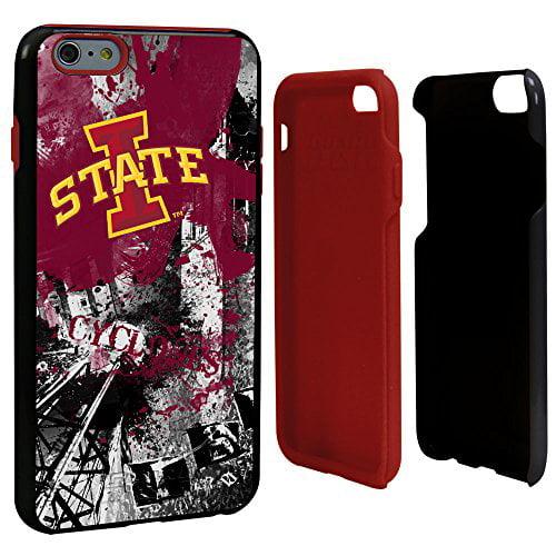 US Digital Media Iowa State Cyclones Paulson Designs Spirit Hybrid Case for iPhone 6 Plus, Black