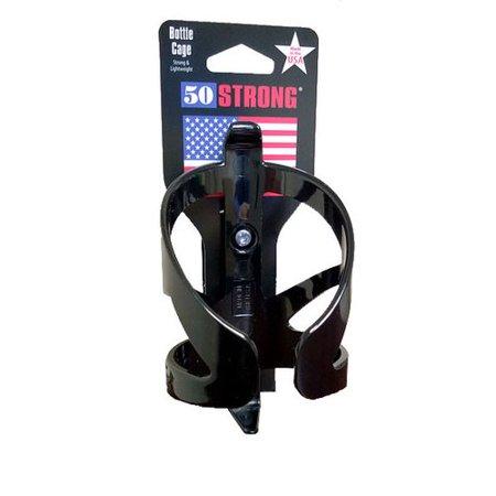 50STRONG Bottle Cage for Bike, Black