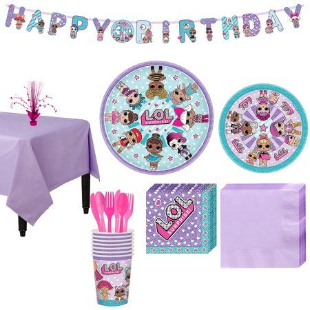 L.O.L. Surprise! Party Supplies for 8 Guests, With Tableware, a Banner, and More - Surprise Banner