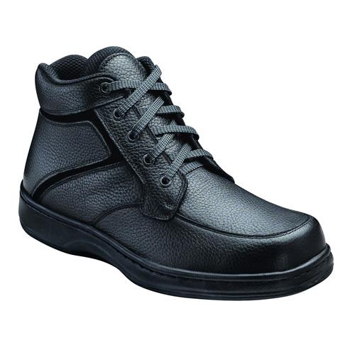 Orthofeet Highline Mens Black Leather Orthopedic Lace Boots