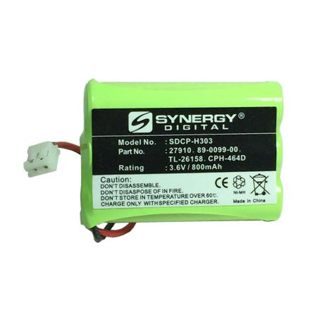 Lenmar CBD958 Cordless Phone Battery Ni-MH 1X3AAA/D, 3.6 Volt, 800 mAh - Ultra Hi-Capacity - Replacement for Rechargeable Battery