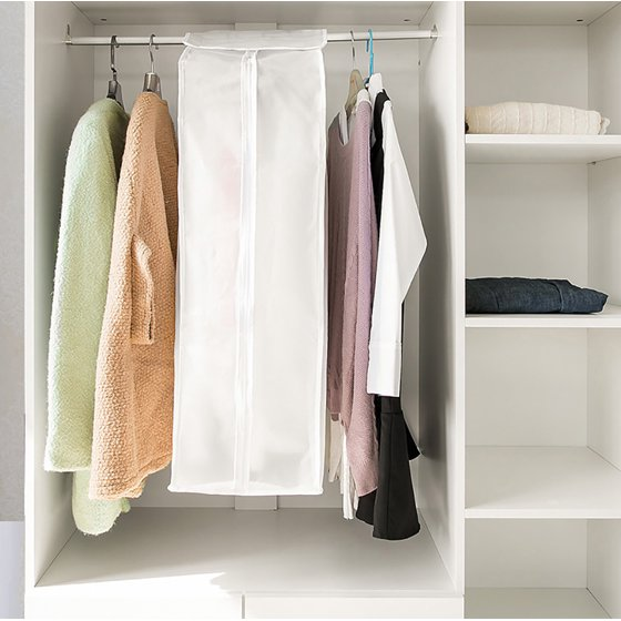 Peralng Clothes Hanging Garment Cover Bag Breathable In Closet Cabinet 43 31 Clear Wardrobe Clothing Storage Protectors Dustproof