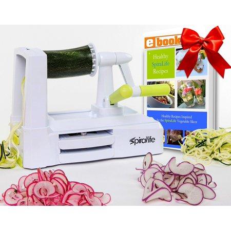 Lifestyle Dynamics SpiraLife Pro Vegetable Spiralizer, Professional Spiral  Vegetable Slicer, Zucchini Spaghetti Maker Kitchen Tool and Recipe eBook ...