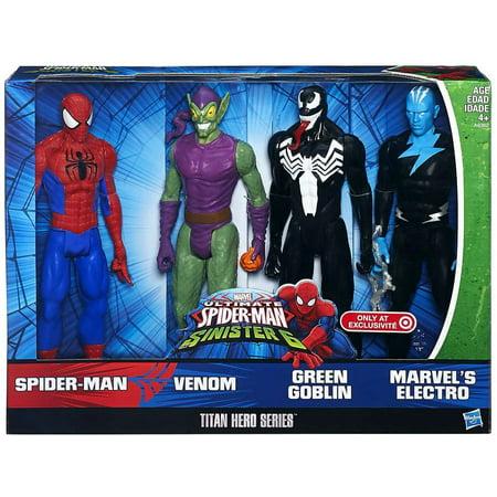 Ultimate Spider-Man vs Sinister 6 Titan Hero Series Action Figure 4-Pack