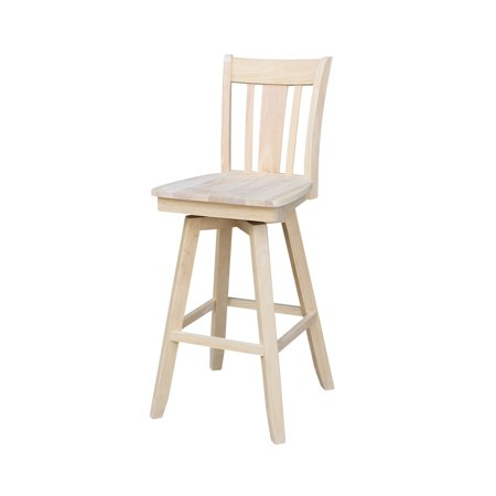 30u0022 San Remo Swivel Counter Stool - Unfinished - International Concepts