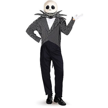 Jack Skellington Adult Deluxe Halloween Costume, One Size