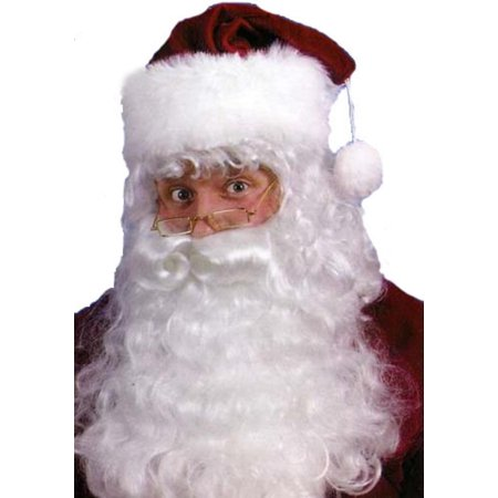 Santa Claus Costume Accessory Set - Beard, Wig & Eyebrows (Costume Eyebrows)
