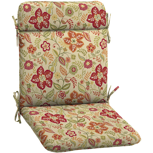Better Homes and Gardens Outdoor Wrought Iron Chair Pad, Pure Floral