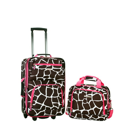 851c0ecb1 Rockland Luggage Rio SoftSide 2-Piece Carry-On Luggage Set - Walmart.com