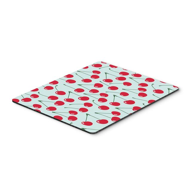 Cherries on Pink Mouse Pad, Hot Pad or Trivet