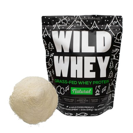Wild Whey Undenatured Grass-Fed Whey Protein Made From Milk - 2.5lb
