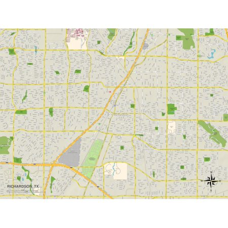 Halloween Richardson Tx (Political Map of Richardson, TX Print Wall)