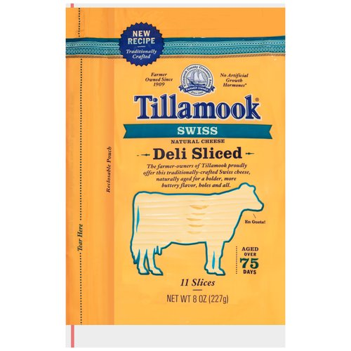 Tillamook Deli Sliced Swiss Natural Cheese Slices, 11 ct, 8 oz