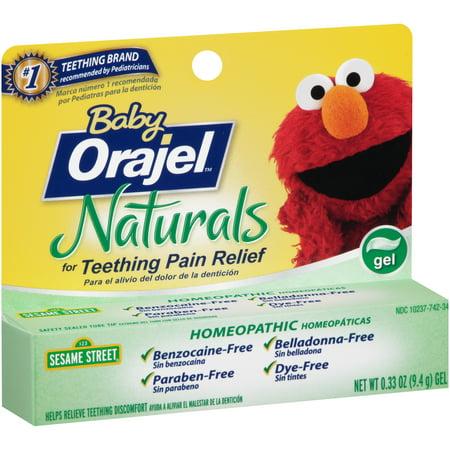Baby Orajel™ Naturals Teething Pain Relief Gel 0.33 oz ...
