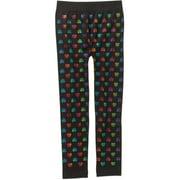 Girls' Essential Multi-Patterned Fleece-Lined Leggings