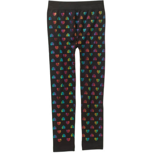 Faded Glory Girls' Essential Multi-Patterned Fleece-Lined Leggings