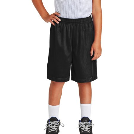 Youth PosiCharge Double-Layer Classic Mesh Short Black X-Small