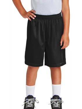 40788d0f4382 Product Image Youth PosiCharge Double-Layer Classic Mesh Short Black X-Small