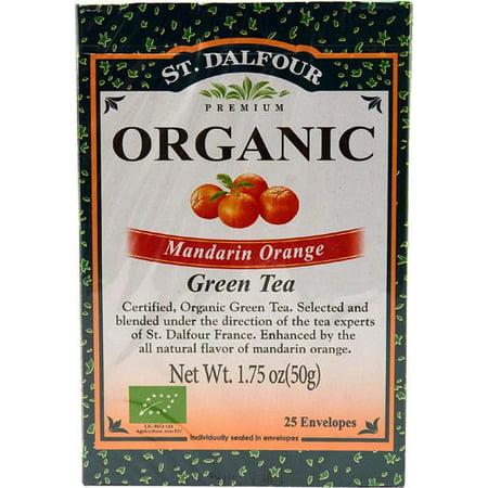 Saint-Dalfour vert biologique Thé Mandarine 25 sachets de thé