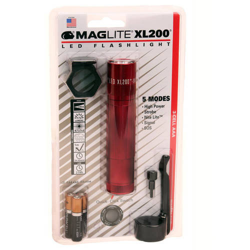 Maglite XL200 3-Cell AAA LED Presentation Box Tactical, Gray by Maglite