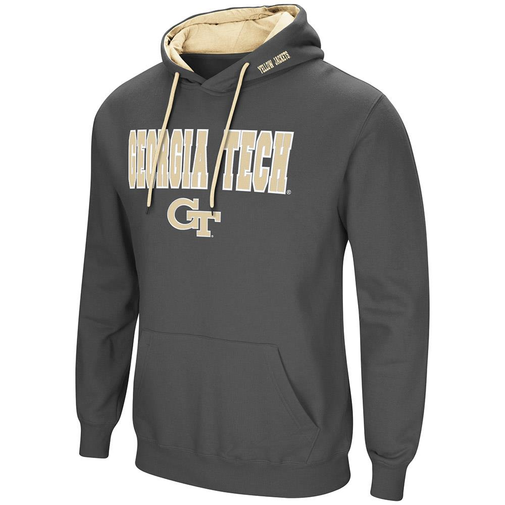 Mens Georgia Tech Yellow Jackets Pull-over Hoodie - L