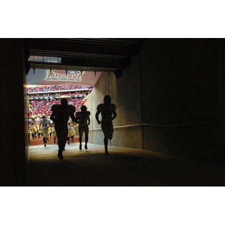 LAMINATED POSTER Football Players Architecture Tunnel Stadium Poster Print 24 x 36 - Football Player Cutouts